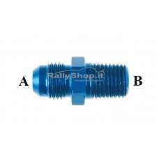 ADAPTER MALE TO MALE A-3/4X16 B-1/2X14 ALUMINUM