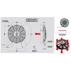 BLOWING FAN 12V (A5.4 - Ø 255MM - 1070M3/H)