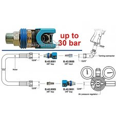"""3/8"""" BSPT MALE QUICK RELEASE COUPLING"""