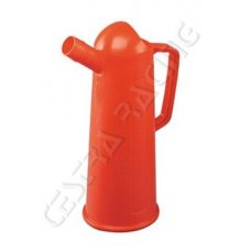 RED GRADUATED CAN WITH SPOUT 1LT