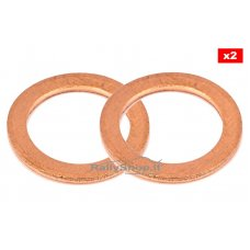 """COPPER CRUSH WASHERS COPPER In. 0.437"""" - Out."""