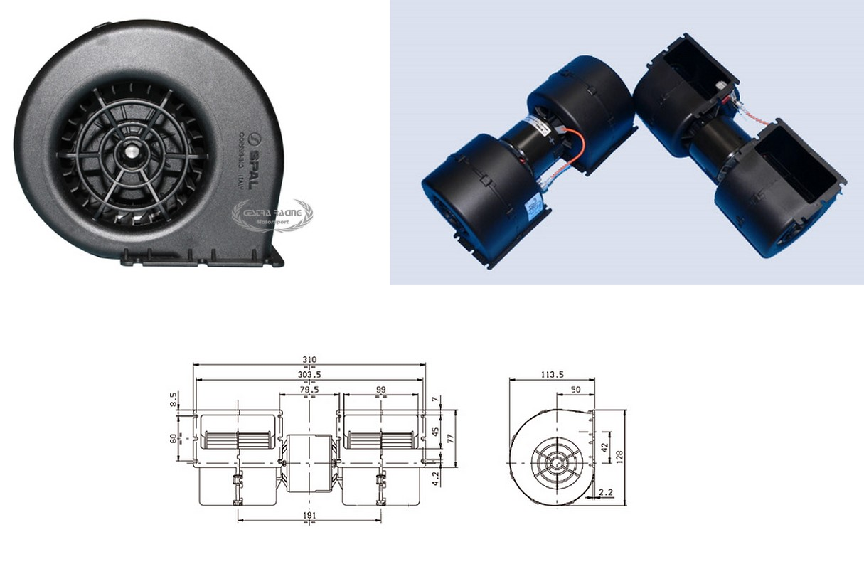 Spal Rallyshop Italy Sparco Omp Stilo Sabelt Competition Parts 196 Wiring Diagram Fans Radial Fan 12v 151 Amp 690 M3 H