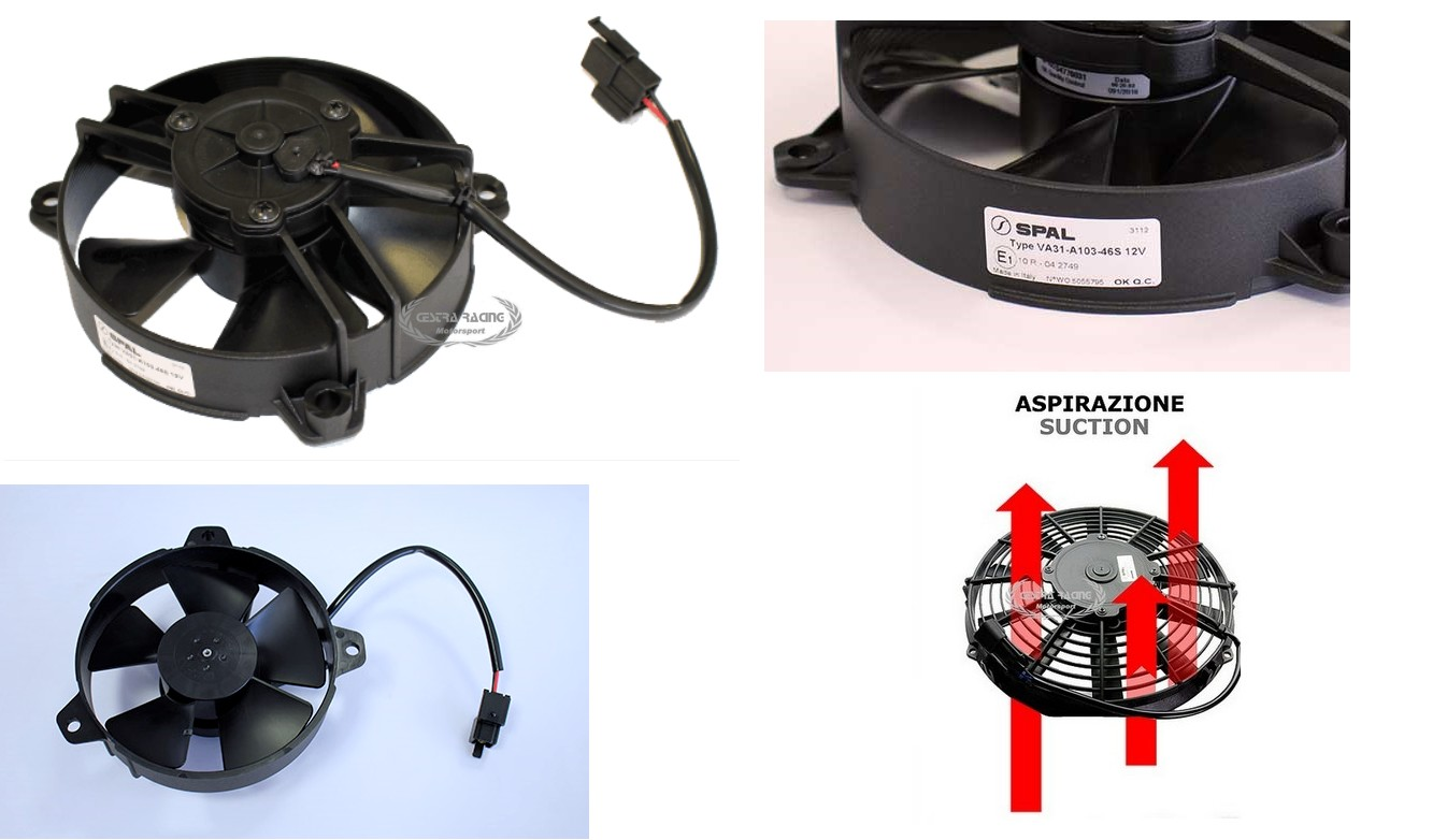Spal Rallyshop Italy Sparco Omp Stilo Sabelt Competition Parts 196 Wiring Diagram Fans Blowing Fan 12v 130mm M3 H