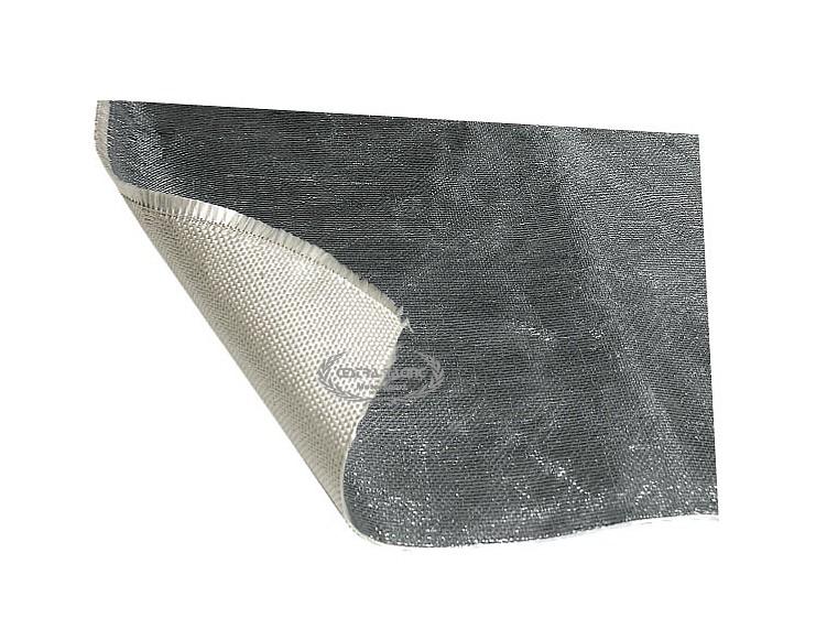 Tessuto ignifugo termico riflettente adesivo 1 mt x 1 for Tessuto isolante termico