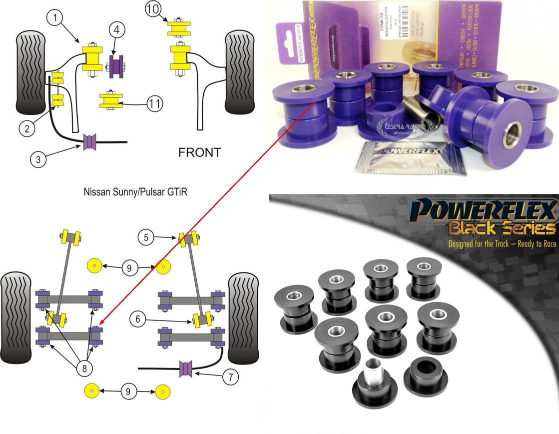 Nissan Sunny Pulsar Gtir Kit 8 Pieces Pfr46 108 26300euro Skateboard Parts Diagram