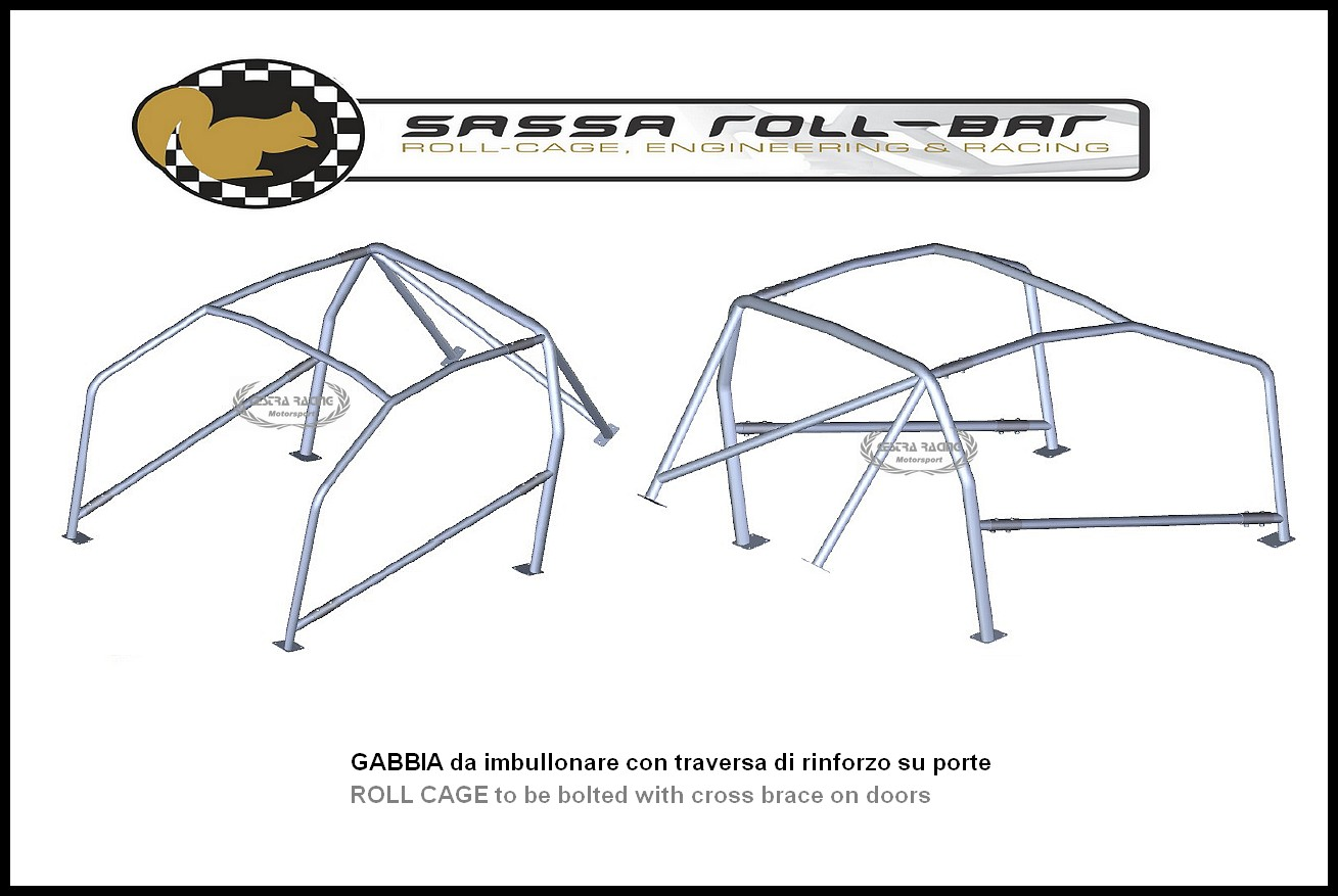 ROLL BAR FIA-J Ford SIERRA RS COSWORTH (2 porte) 85-87
