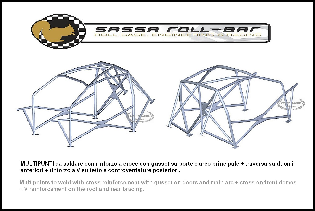 ROLL BAR FIA-J Honda CIVIC TYPE-R ( VII serie ) '01-'06