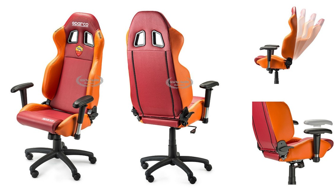 AS ROMA office chair with removable armrests