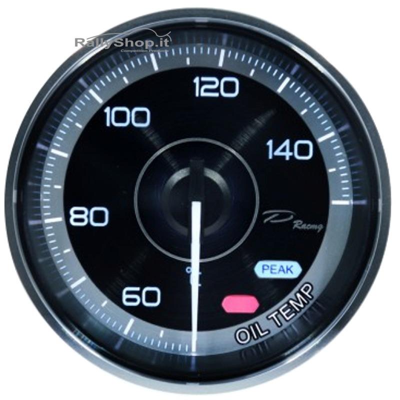 Manometro Strumento 60mm DEPO Pressione Olio BAR Allarme Picco Digitale analogic